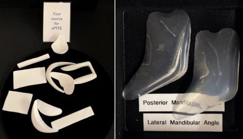Ассортимент имплантатов из ePTFE и силикона